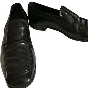PRADA mens Leather Dress Shoes 6.5